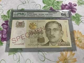 PMG Singapore $10,000 Specimen
