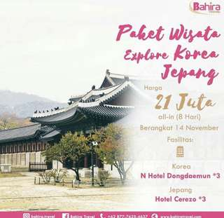 Explore Korea - Japan @bahira.travel