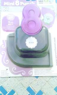 mini lucky 8 puncher for scrapbooking