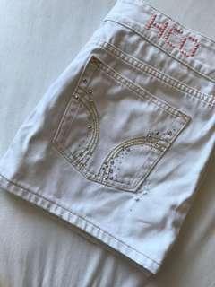 🚚 Hollister 白色牛仔裙