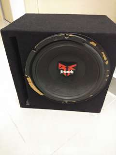 #july100 original Rockford punch 12inch woofer with box