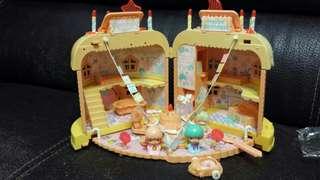 純分享 非賣品 1976年 Sanrio twin stars 罕有 絕版 中古 生日蛋糕屋 齊件