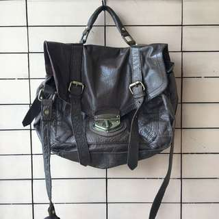 ASOS PURE LEATHER TWO WAY BAG