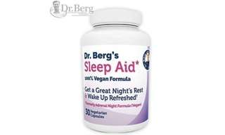 [IN-STOCK] Dr. Berg Product – Sleep Aid Vegan Formula – All Natural Support for Normal Sleep Cycles to Fight Fatigue & Stress – Non Habit Forming - Dr. Berg Nutritional