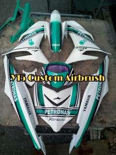 Yamaha Y15 Petronas Full Original Hly custom airbrush