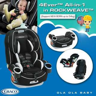 【Graco 4Ever All-in-1 】Rockweave (FREE Gift)