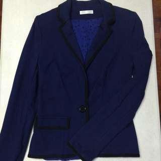 Promod Dark Blue Blazer with Black Trim