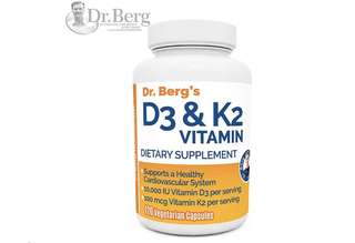 [IN-STOCK] Dr. Berg's Vitamin D3 & K2 Supplement with Purified Bile Salts -Vitamin D3 & K2 Support Healthy Bones and a Healthy Heart – 10,000 IU of Vitamin D3 & 100 mcg of Vitamin K2 MK-7 - D. Berg Nutritional