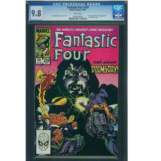 Marvel Comics Fantastic Four #259 White Pages CGC 9.8 John Byrne Copper Age Classic