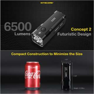 (FREE Delivery) Nitecore Concept 2 Rechargeable LED Flashlight