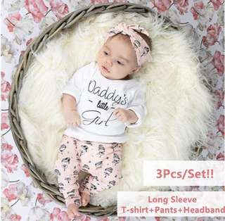 Daddy's little girl 3pc set
