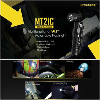 Nitecore MT21C Multi-Task Adjustable Head Flashlight