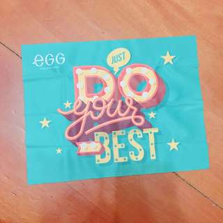 搬屋大清貨🚥EGG《JUST DO YOUR BEST》太陽眼鏡布
