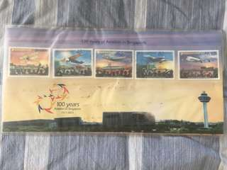 Stamps 100 years Aviation in Singapore