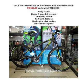 2018 Trinx M500 Elite 27.5 Built Bike Mountain Bike Bicycle MTB Alloy Mechanical Shimano