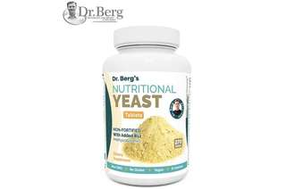 [IN-STOCK] Dr. Berg's Nutritional Yeast Tablets – Non-Fortified – B-Vitamin Complex – Natural B12 Added – 270 Tablets – No Gluten – Vegan – Non-GMO – Non Synthetics - Dr. Berg Nutritional