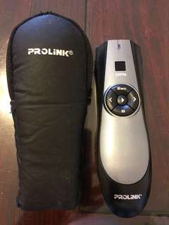 Prolink wireless presenter with laser pointer