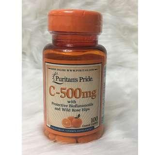 Puritan's Pride Vitamin C-500mg Bioflavonoids & Rose Hips