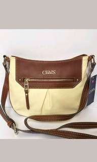 CHAPS  Paige Crossbody  in Cream & Brown