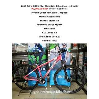 2018 Trinx Q189 29er Built Bike Mountain Bike Bicycle MTB Hydraulic Alloy Ltwoo