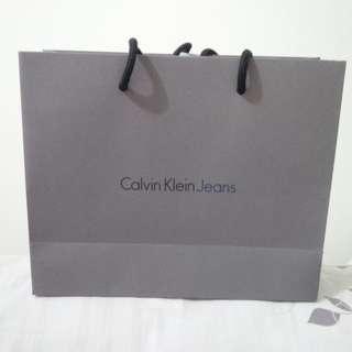 CALVIN KLEIN JEANS PAPERBAG PRELOVED like NEW