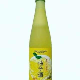 日本清酒  松の花 柚子酒 500ml 全部日本進口