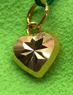 Funky Gold (916) Heart Locket for G R A B ❤️❤️❤️