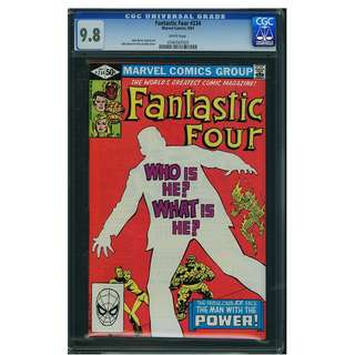 Marvel Comics Fantastic Four #234 White Pages CGC 9.8 John Byrne Copper Age Classic