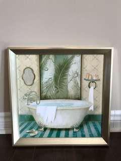 Washroom wall painting
