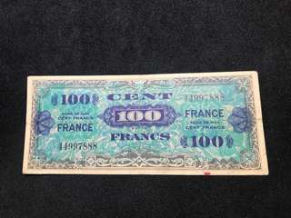 Own History: France 1944 Allied Military 100 Francs (WW2)