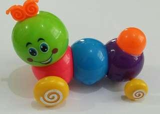 80年代BB上鏈可愛毛毛蟲🐛🐛玩具😁