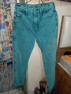 美國製 wrangler特別色牛仔褲