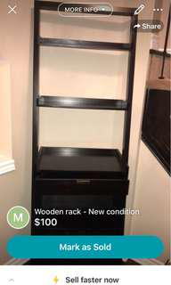 Wooden rack - New condition
