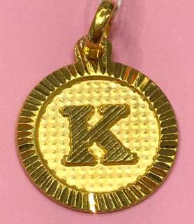 """k"" letter - lovely Gold 916 Locket for beautiful ladies ❤️"