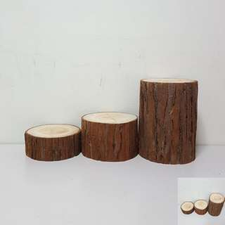 [For Rent] 3 Tall Round Wood Slices SM012