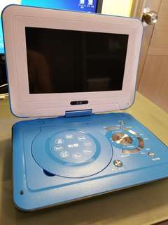 DVD player 10吋 螢幕 可駁電視 合播兒童教學 光碟