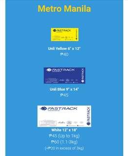 Shipping fee via Fastrack