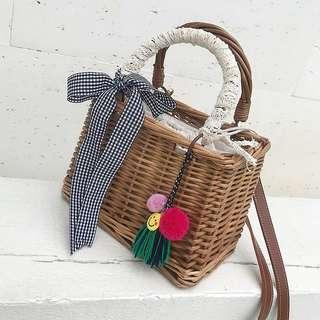 [PO] Bamboo Rattan Drawstring Bag