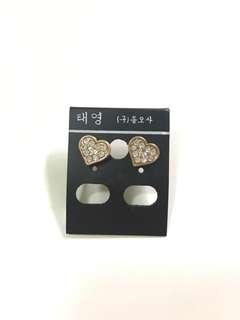 心形耳環 Heart earings