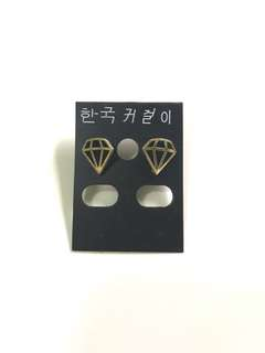 鑽石圖案耳環 Diamond pattern earings