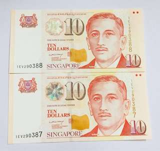 Singapore $10 notes