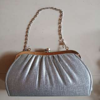 Clutch bag (silver)