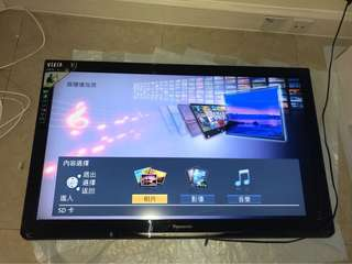 42寸Panasonic TV TH-L42U30H 電視連掛牆架和遙控器