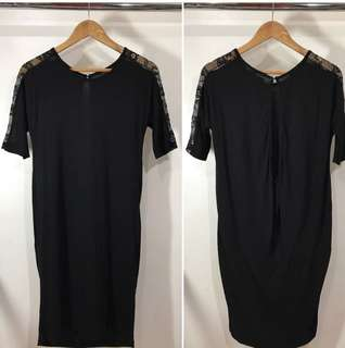 REPRICED!!! Zara laced shoulder with aerie back dress