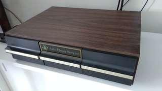 Retro cassette deck vintage storage box cabinet. Audiophile Stereophile hifi
