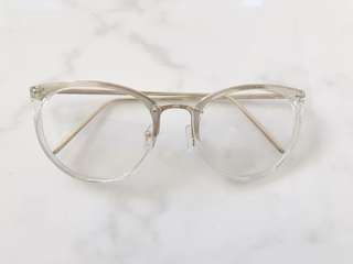 Clear Transparent Glasses (no prescription)