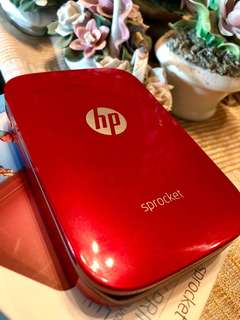 HP Sprocket - Red With free 10 zink paper