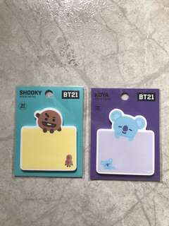 🚚 BT21 Sticky Notes