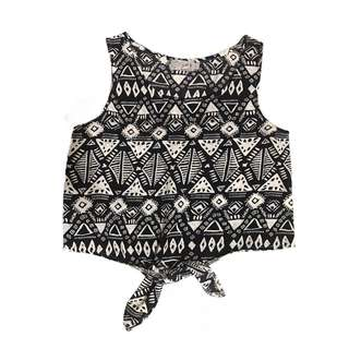 JUST G CROPPED TIE TOP
