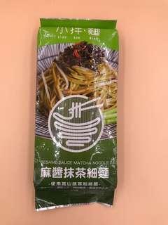 台灣直送 【小拌麵】麻醬抹茶細麵